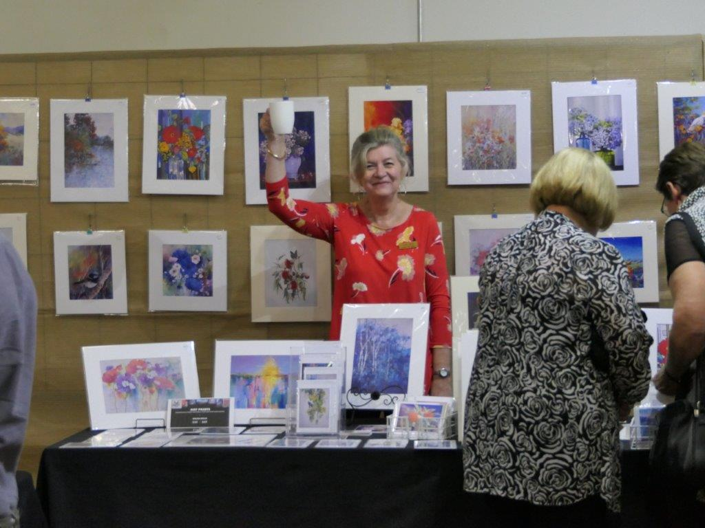 Helen Miles at her card table